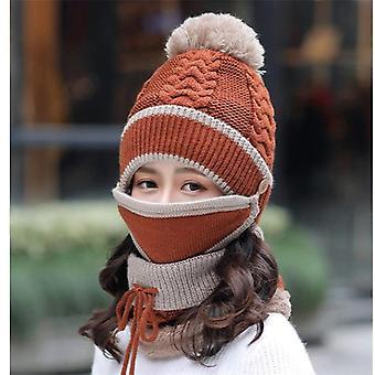 Pălării anti-ceață, Femei de iarnă, Bearies Velvet, Gros Bib Masca, Skullies,