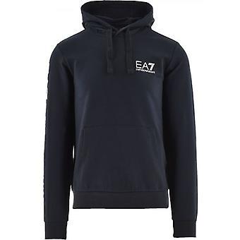 EA7 Blå Logo Hooded Sweatshirt