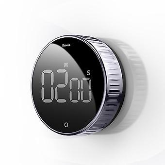 Magnetický digitálny časovač pre kuchynské kuchynské sprchové sprchové stopky (bez batérie)