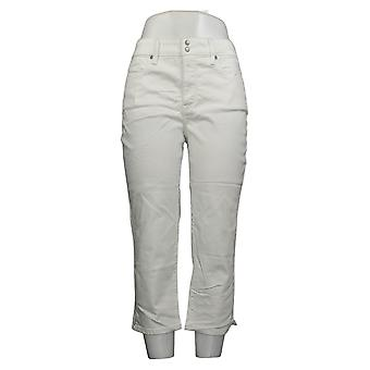 NYDJ Women's Pants Skinny Crop with Side Slits Optic White A377695