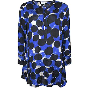 Masai Clothing Golda Blue Bold Print Tunic