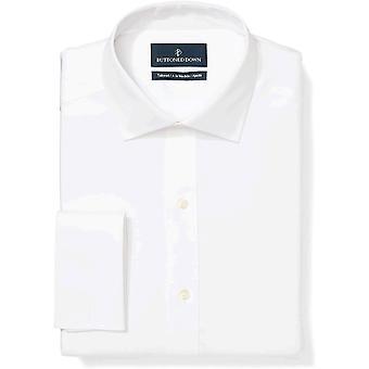 Buttoned alas miehet's räätälöityjä fit ranskalainen ranneke levitä kaulus ei-rauta mekko shi...