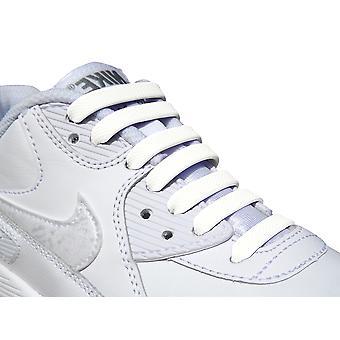 White Kids - Easy No Tie Silicone Shoelaces