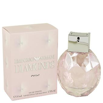 Emporio Armani Diamonds Rose Eau De Toilette Spray By Giorgio Armani 1.7 oz Eau De Toilette Spray