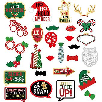 Party Props Photo Booth Frame 2021 Christmas Party - 30pcs Design 3