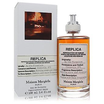 Replica By The Fireplace Eau De Toilette Spray (Unisex) By Maison Margiela 3.4 oz Eau De Toilette Spray