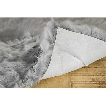 "17"" x 17"" Gray Sheepskin - Seat Chair Cover"