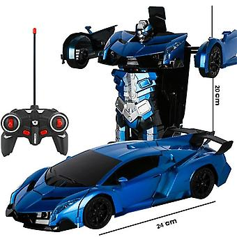 2 In 1 Electric Rc Car Transformation Robots Outdoor Remote Control Sports