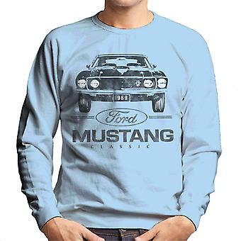 Ford Mustang Classic 1969 Plate Men's Sweatshirt