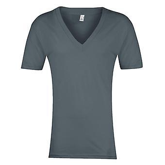 American Apparel Unisex lyhythihainen aukkoinen t-paita