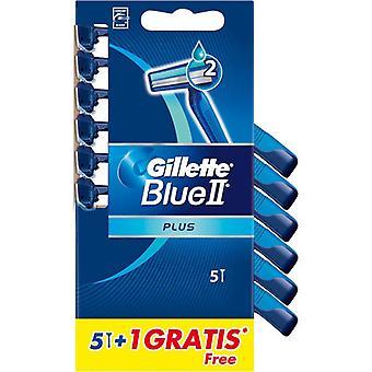 Gillette engangs barberhøvel blå II pluss 6 PCer