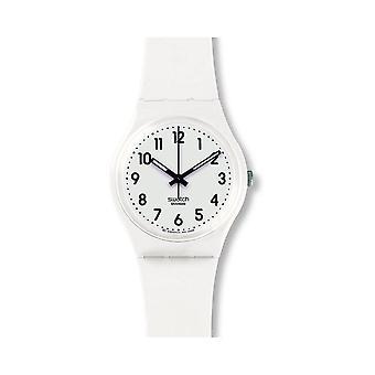 Swatch Gw1510 Apenas relógio de silicone macio branco