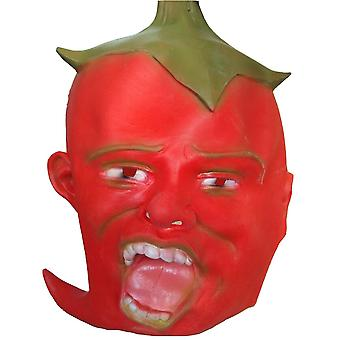 Masque red pepper latex Headgear Masquerade Cosplay Props