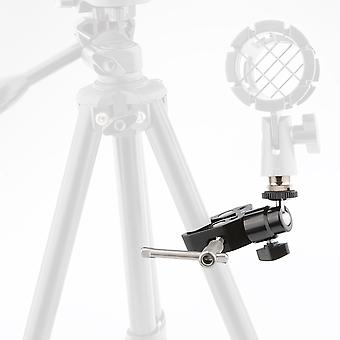"""Crab Clamp & 5/8""""-27 Ball Head Mount For Microphone"""