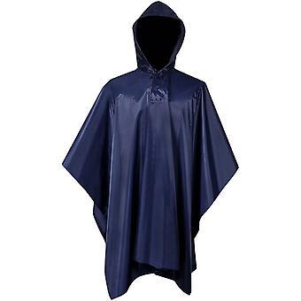 Vodotěsné armádní dešťové pončo pro kempování / pěší turistiku Navy Blue