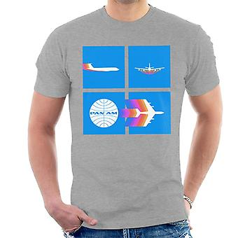 Pan Am Takeoff Silhouette Camiseta de hombres