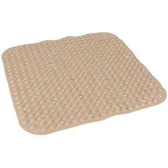 bath mat 51 x 51 cm PVC brown