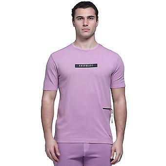 Polisen tvättar 7542 plagg färgade kardborremärke logotyp T-shirt - Rose Quartz