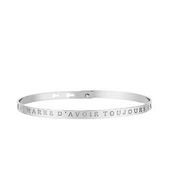 I'VE MARRE D-apos;ALWAYS RAISON- braccialetto per messaggi d'argento