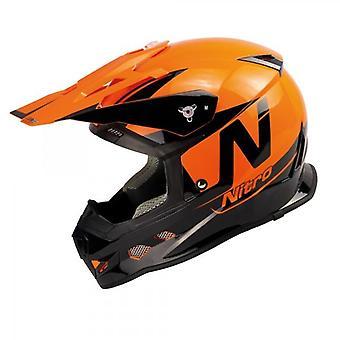 Nitro MX700 Motocross Helmet Black Orange Gloss