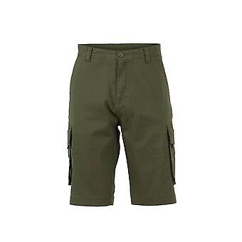 Rigney orgánico algodón carga pantalones cortos aceituna oscura