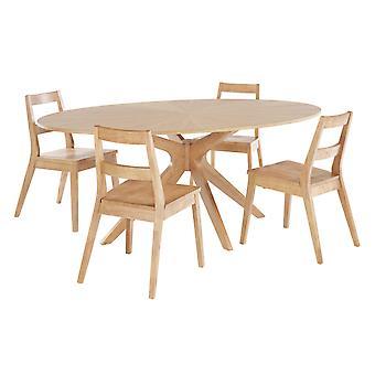 Melber Table White Oak