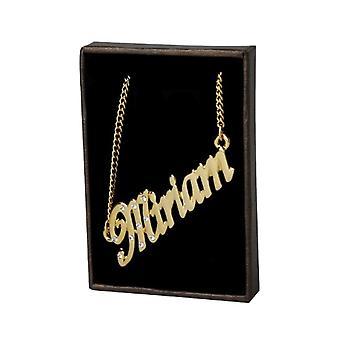 KL Kigu Miriam - Naisten kaulakoru nimi, 18 karat kullattu, muokattavissa