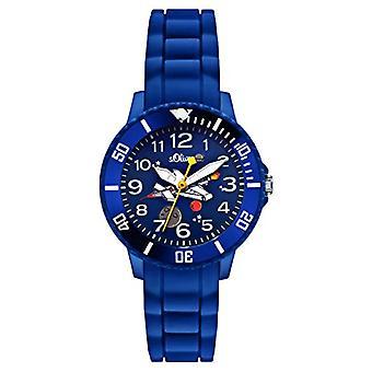 S.Oliver SO-2590-PQ ساعة اليد، بوي، سيليكون، الأزرق