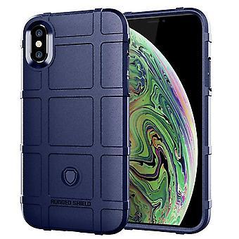 Étui en fibre de carbone Tpu pour iphone xs max bleu mfkj-1858