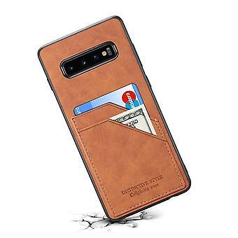 Portefeuille étui en cuir fente pour carte pour iphone x / xs brun no3851