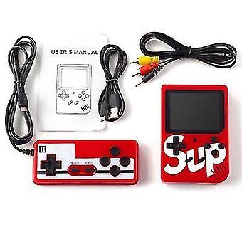 Kaksinkertainen kahva punainen kädessä pidettävä peli consoleretro mini peli 400 klassinen fc pelejä 2,8 tuumaa x7153