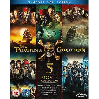 Pirates of the Caribbean 1-5 Boxset Blu-ray