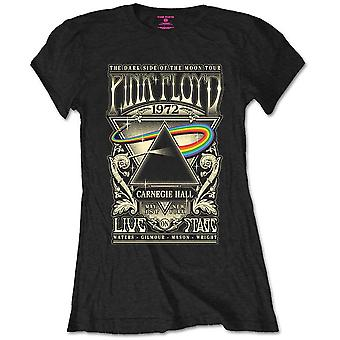 Pink Floyd - Carnegie Hall Poster Piccola T-Shirt Donna - Nero