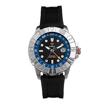 Axwell Barrage Strap Watch w/Date - Black/Blue