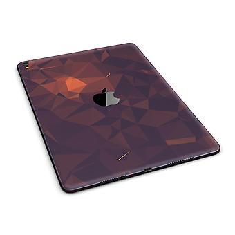 """Sötétvörös geometriai V15 teljes testbőr az Ipad Pro (12,9"""" vagy 9,7"""""""