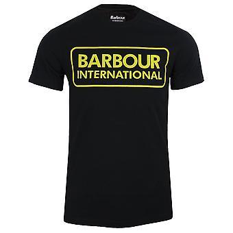 Barbour international men's black large logo t-shirt