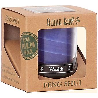 Aloha Bay Feng Shui Palm Wax Jar Candle, Water Wealth 2.5 oz