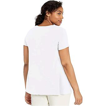 Daily Ritual Kvinnor & apos;s Jersey Kortärmad Scoop Neck Swing T-shirt, Heather Lila, Medium