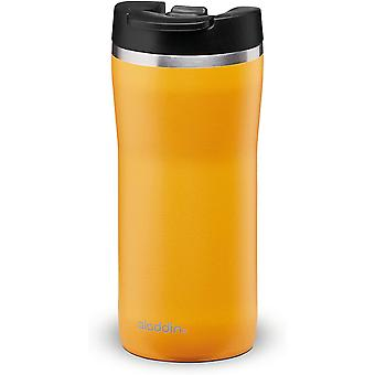 HanFei Leakproof-Double Wall Vacuum Insulated Cup, Stainless Steel, Yellow, 0.35L