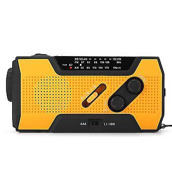 Przenośny AM FM NOAA Radio Solar Crank Emergency Weather Latarka Akumulator Power Bank dla iPhon