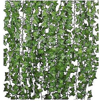 12/24 خيوط الاصطناعية اللبلاب ليف النباتات كرمة , للمنزل مطبخ حديقة مكتب الزفاف ديكور الجدار,