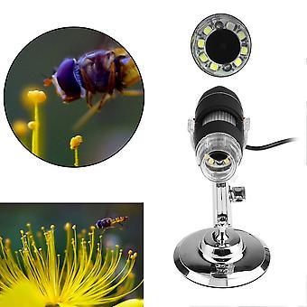 8 Led Usb 500x Microscope Endoscope Digital Magnifier Video Camera With Stand
