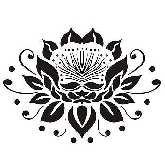 Wall Decal Vinyl Sticker Decals Mandala Namaste Lotus Flower Indian Wall Stickers
