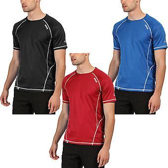 Regatta Mens Virda II Active Outdoor Quick Dry Short Sleeve T-Shirt Top Tee