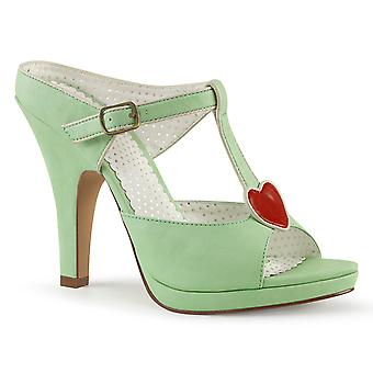 Pin Women's Shoes Up Mint Faux Leather