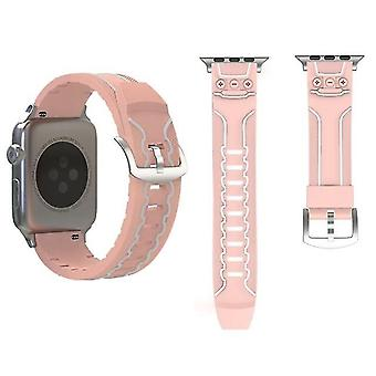Electrocardiogram mode silicone Watch band for Apple Watch Series 3 & 2 & 1 in 38mm Pink