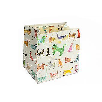 SIDSTE PAR - Lille papir gavepose - Slank Kat - 14x15x11.5