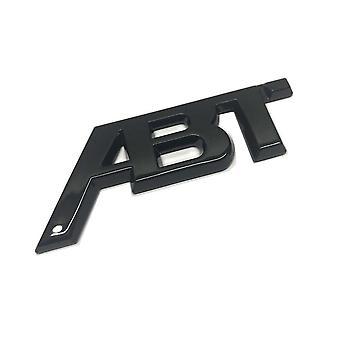 ABT Gloss Black Front Grill Badge Emblem Boot