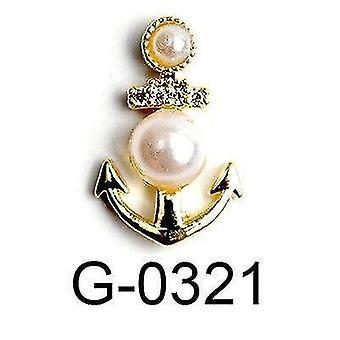 10pcs פרח דבורה פרפר אהבה תכשיטים מסמר אביזרים קסם אספקה| אבני חן וקישוטים