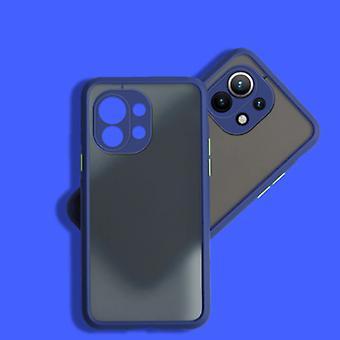 Balsam Xiaomi Mi 11 Lite Case with Frame Bumper - Case Cover Silicone TPU Anti-Shock Blue